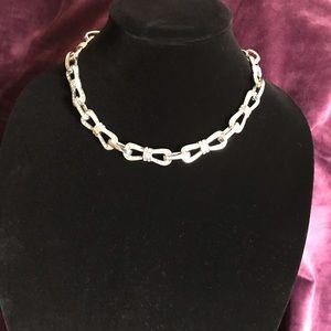 Ann Taylor Faux Diamond Bowtie Necklace